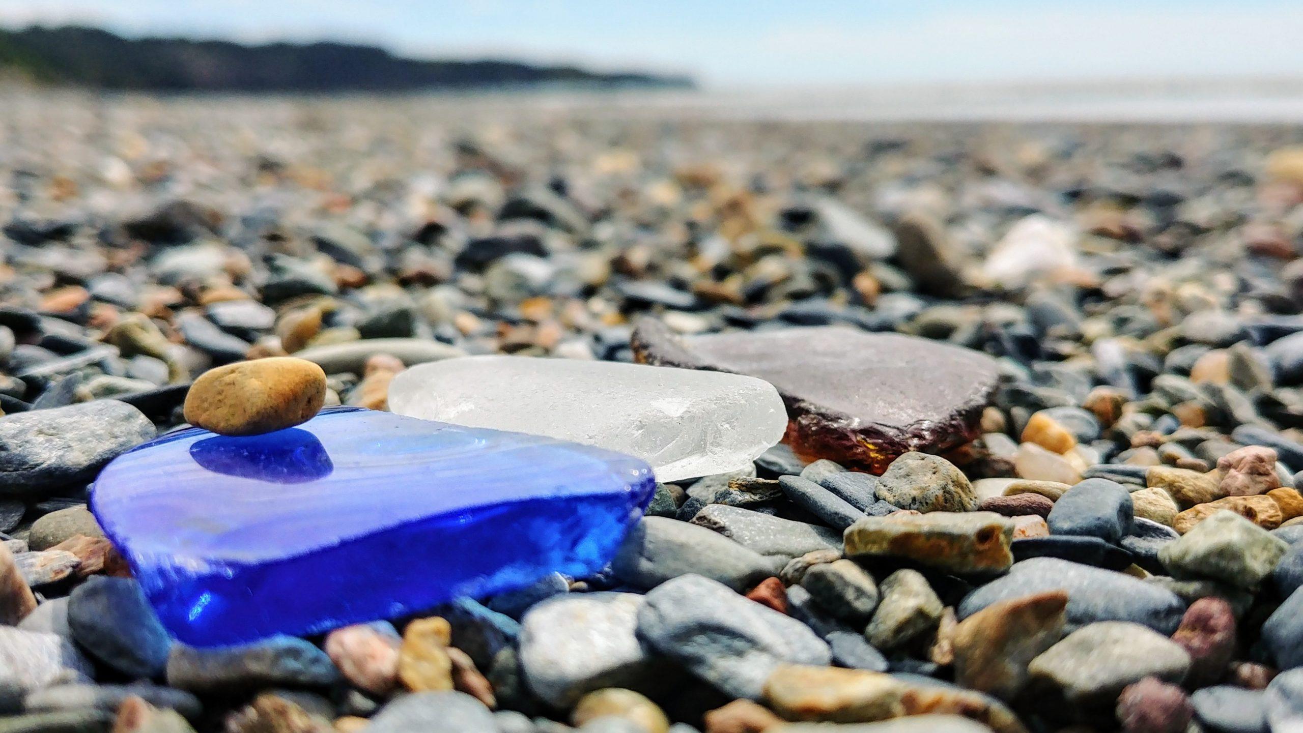 Yarmouth seaglass verre de mer plage Mavillette Clare