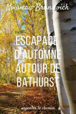 Escapade d'automne à Bathurst, Nouveau-Brunswick, Canada