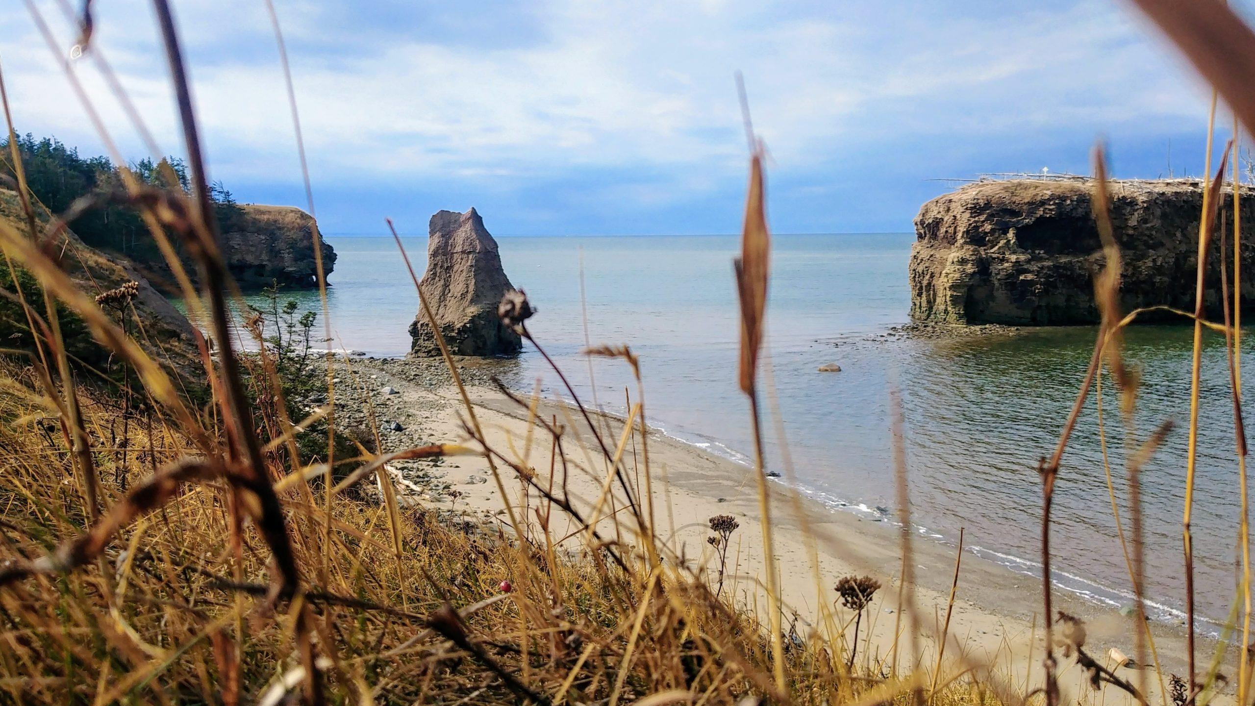 Région Chaleur plage rocher Pokeshaw escapade automne Nouveau-Brunswick