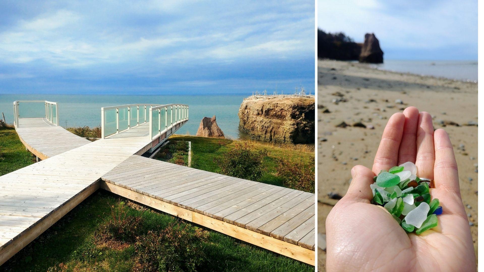 Rocher Pokeshaw plage infos pratiques - Nouveau-Brunswick, Canada