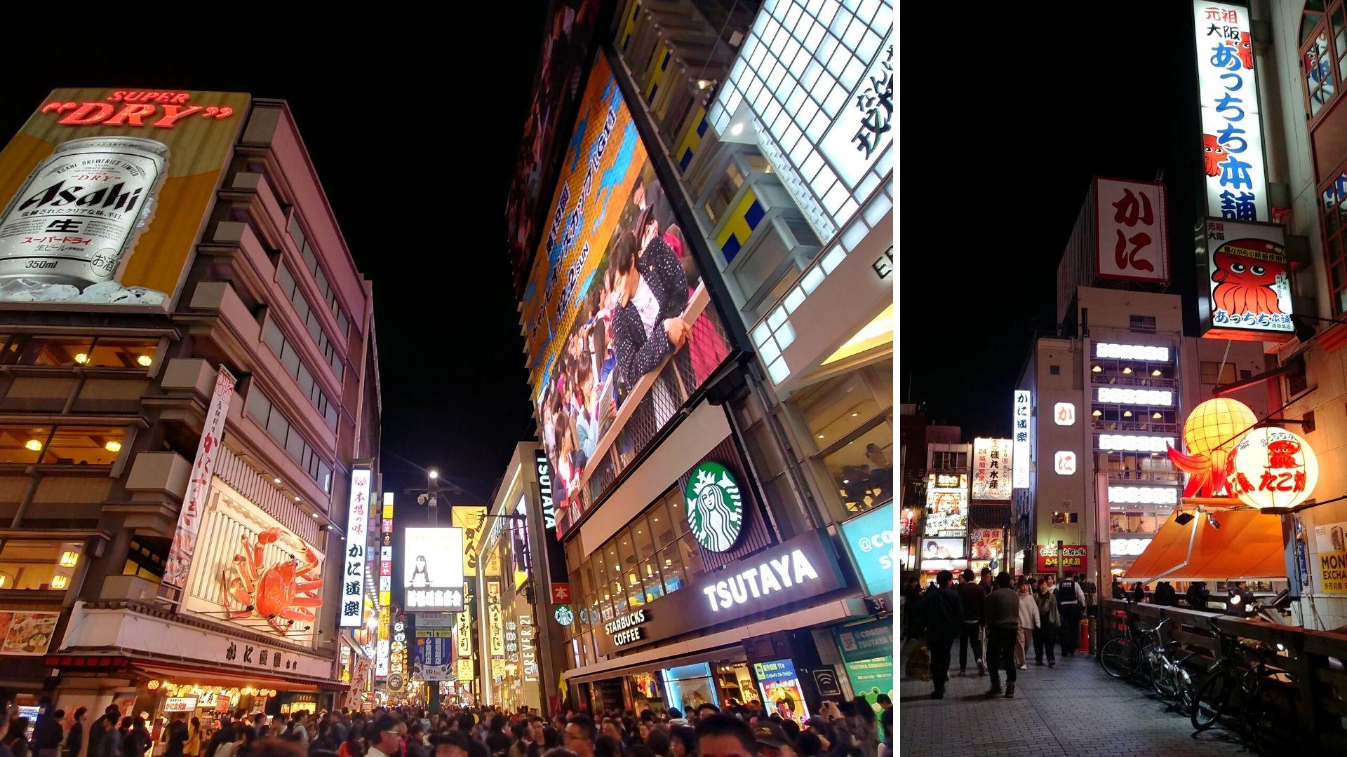 Osaka dotonbori by night blog voyage japon arpenter le chemin
