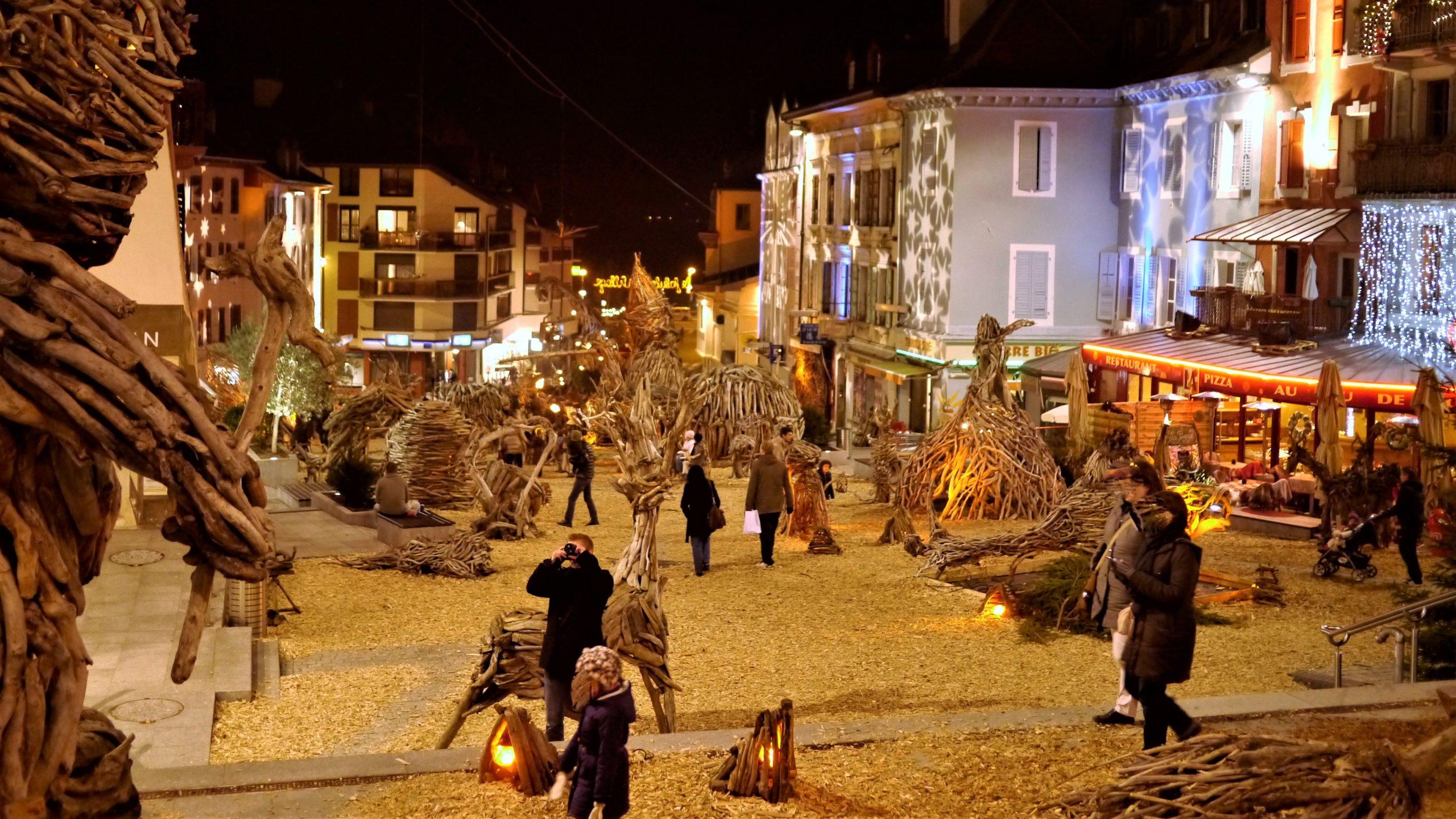 Village magique Flottins EVian-les-Bains Noël escapade Haute-savoie blog voyage Arpenter le chemin