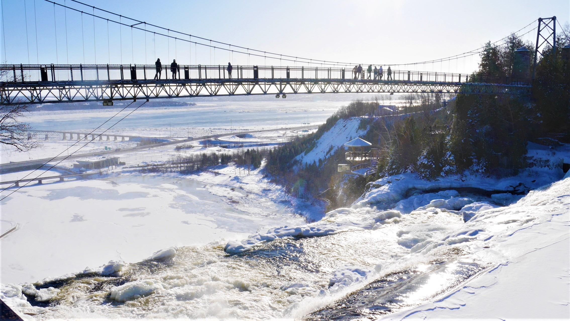 Quebec Chutes Montmorency hiver infos pratiques blog voyage canada arpenter le chemin