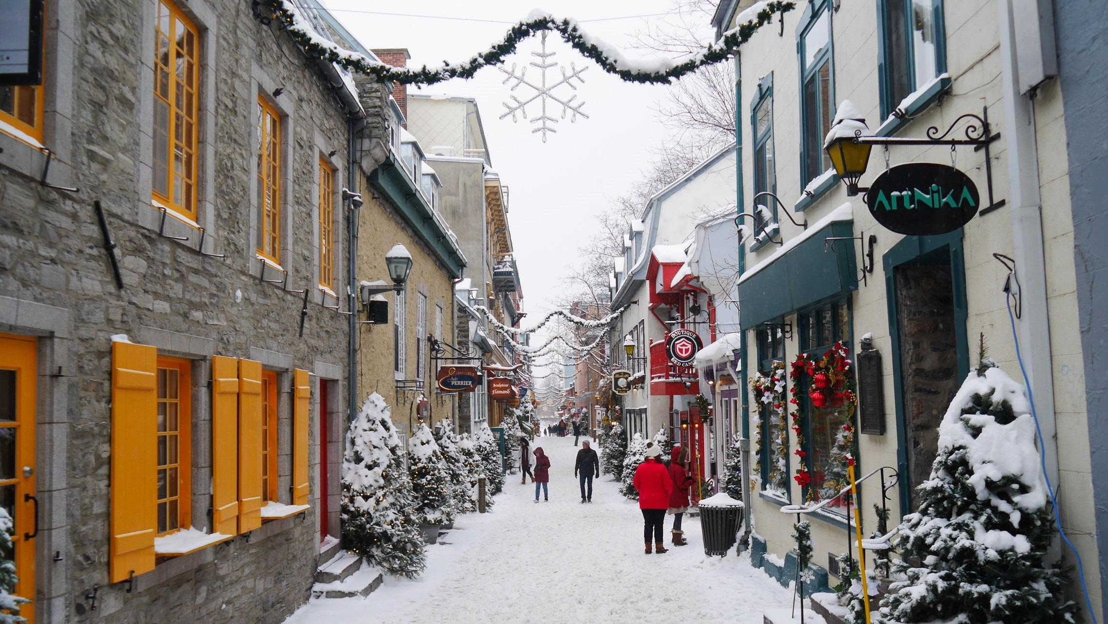 Quebec Noel petit champlain que voir fetes fin annee reveillon blog voyage canada hiver arpenter le chemin