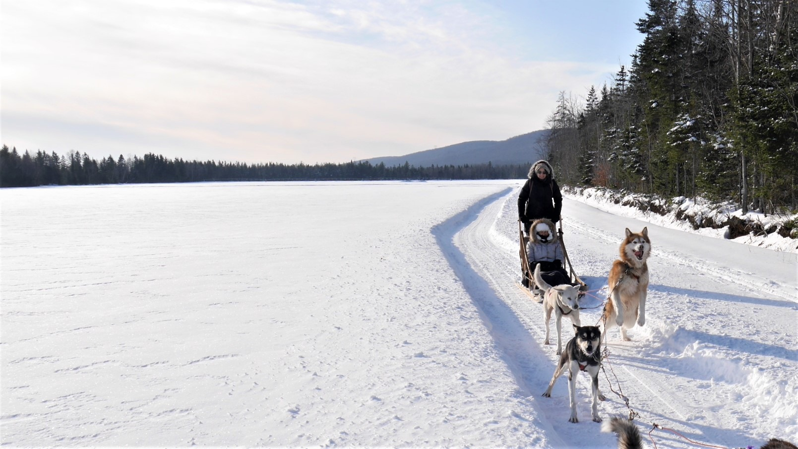 Quebec Station touristique duchesnay aventure inukshuk blog voyage canada hiver arpenter le chemin