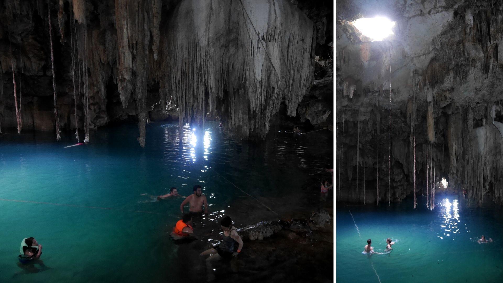Cenote Xkeken Dzitnup Valladolid blog voyage Yucatan Mexique arpenter le chemin