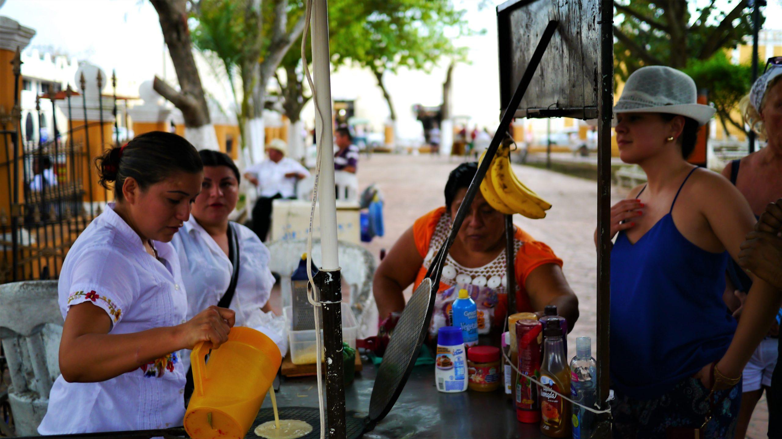 Mexique Valladolid scene de rue blog voyage Yucatan arpenter le chemin