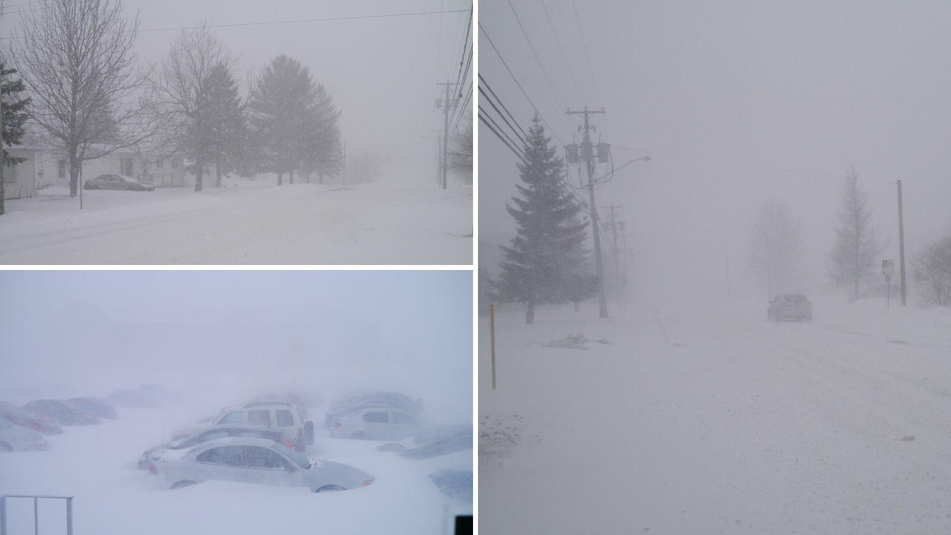 canada hiver voyage blizzard neige arpenter le chemin