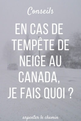 conseils tempete neige voyage canada hiver