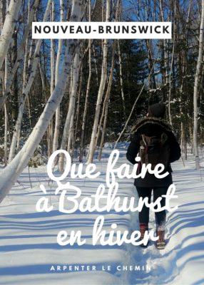 Activités d'hiver à Bathurst NB