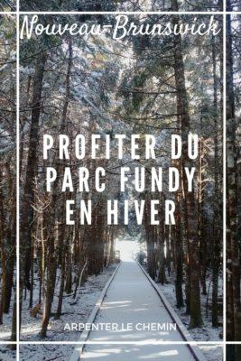 Activités d'hiver au parc Fundy, Nouveau-Brunswick (1)