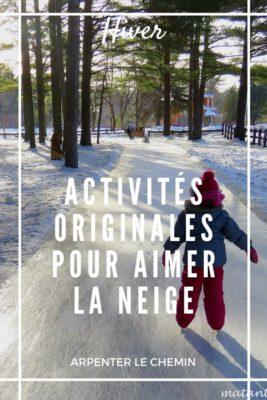 Activités originales pour aimer l'hiver