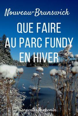Que faire au parc national Fundy en hiver - Nouveau-Brunswick