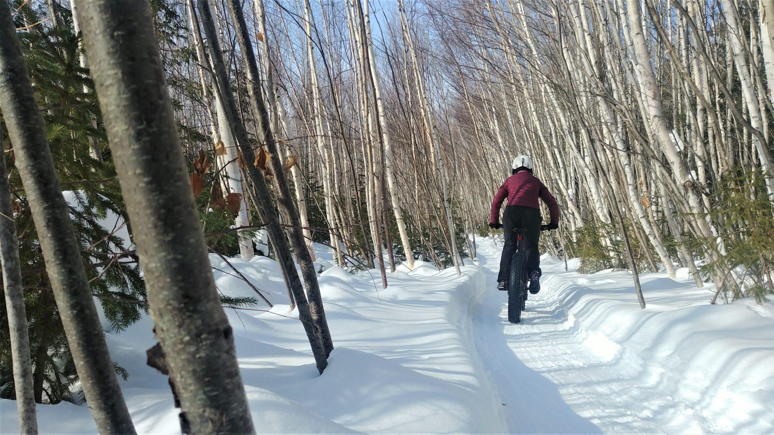 Région Chaleur fat bike vélo d'hiver Bathurst Nouveau-Brunswick