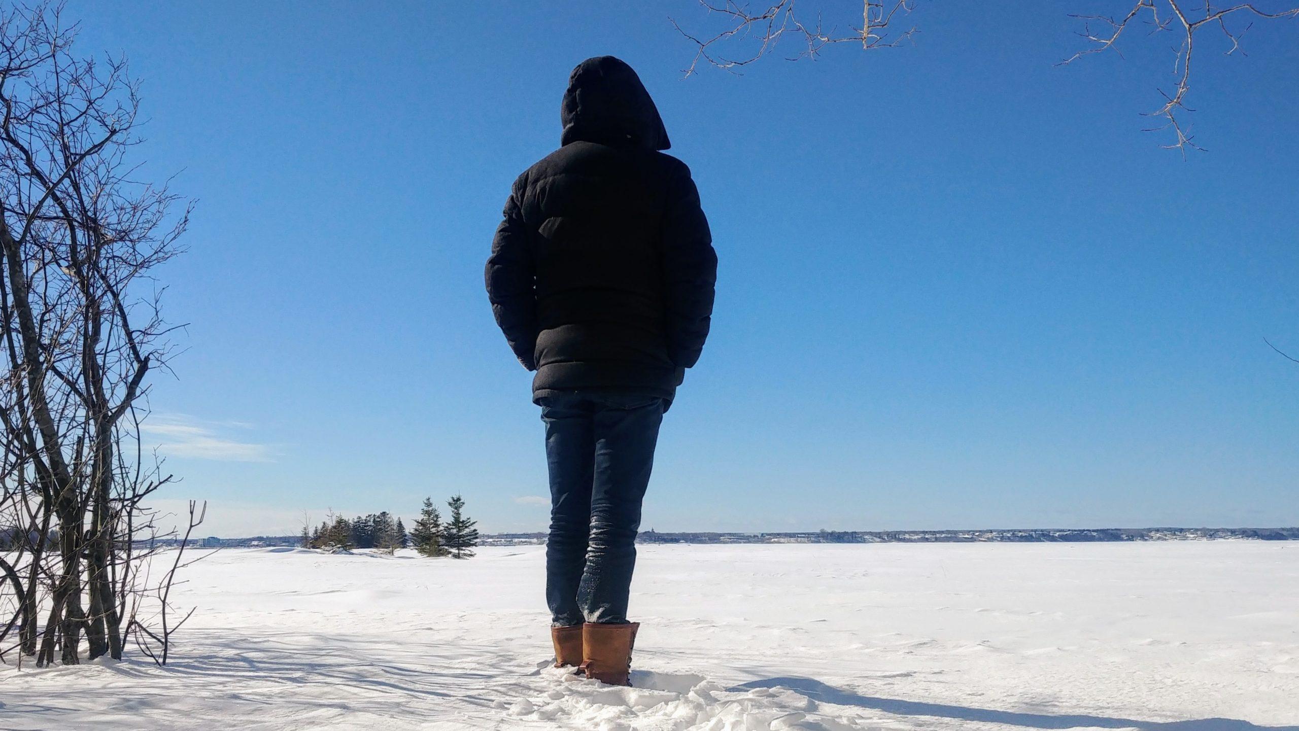 Région Chaleur parc pointe Daly hiver Nouveau-Brunswick Canada Arpenter le chemin