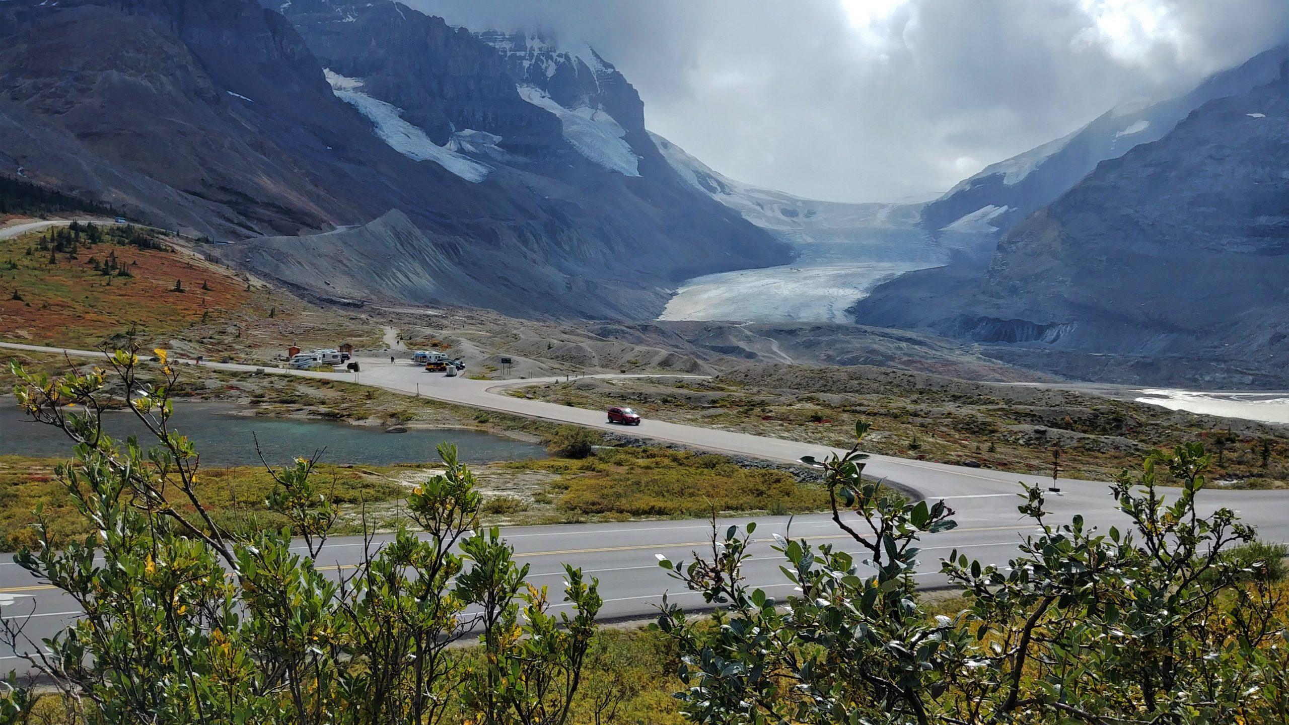 Champ de glace Columbia Promenade des glaciers Icefield PArkway Banff Canada road-trip