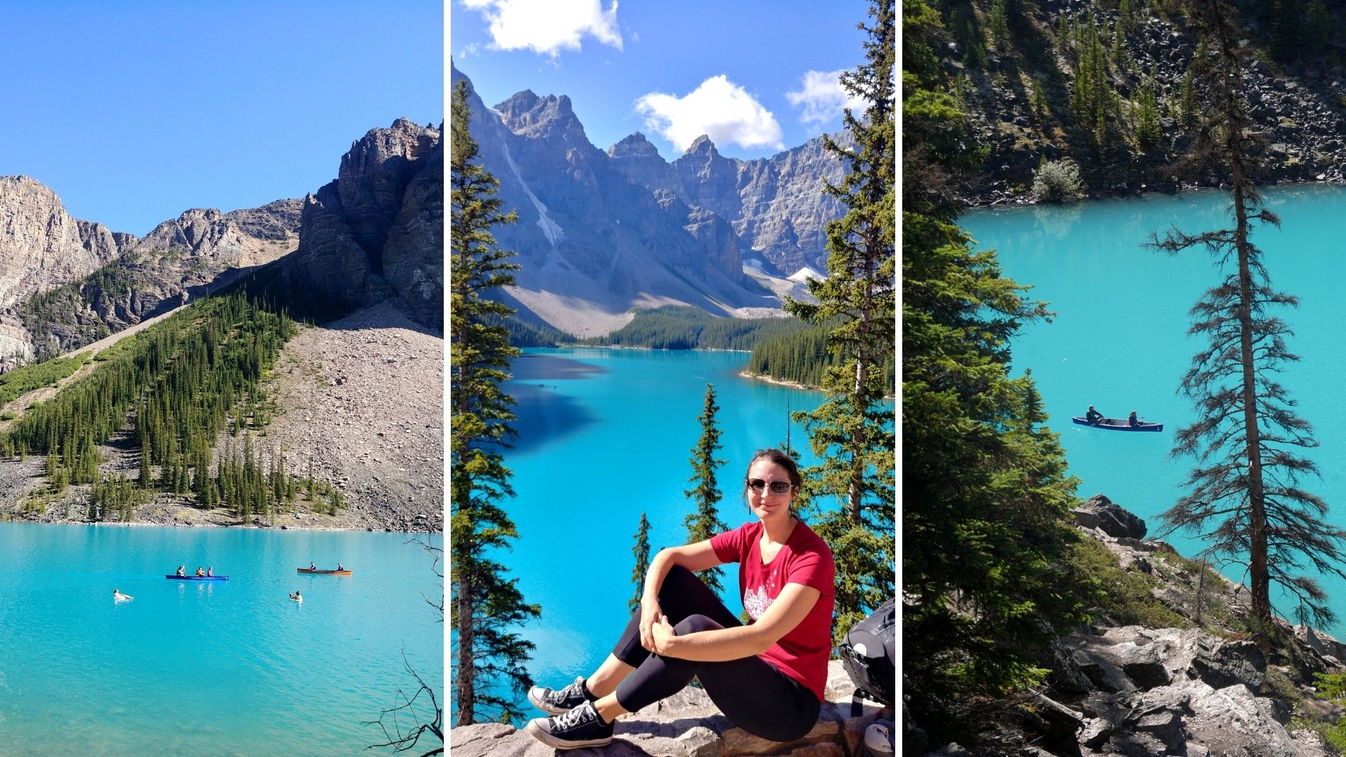 Lac Moraine, parc de Banff, Canada