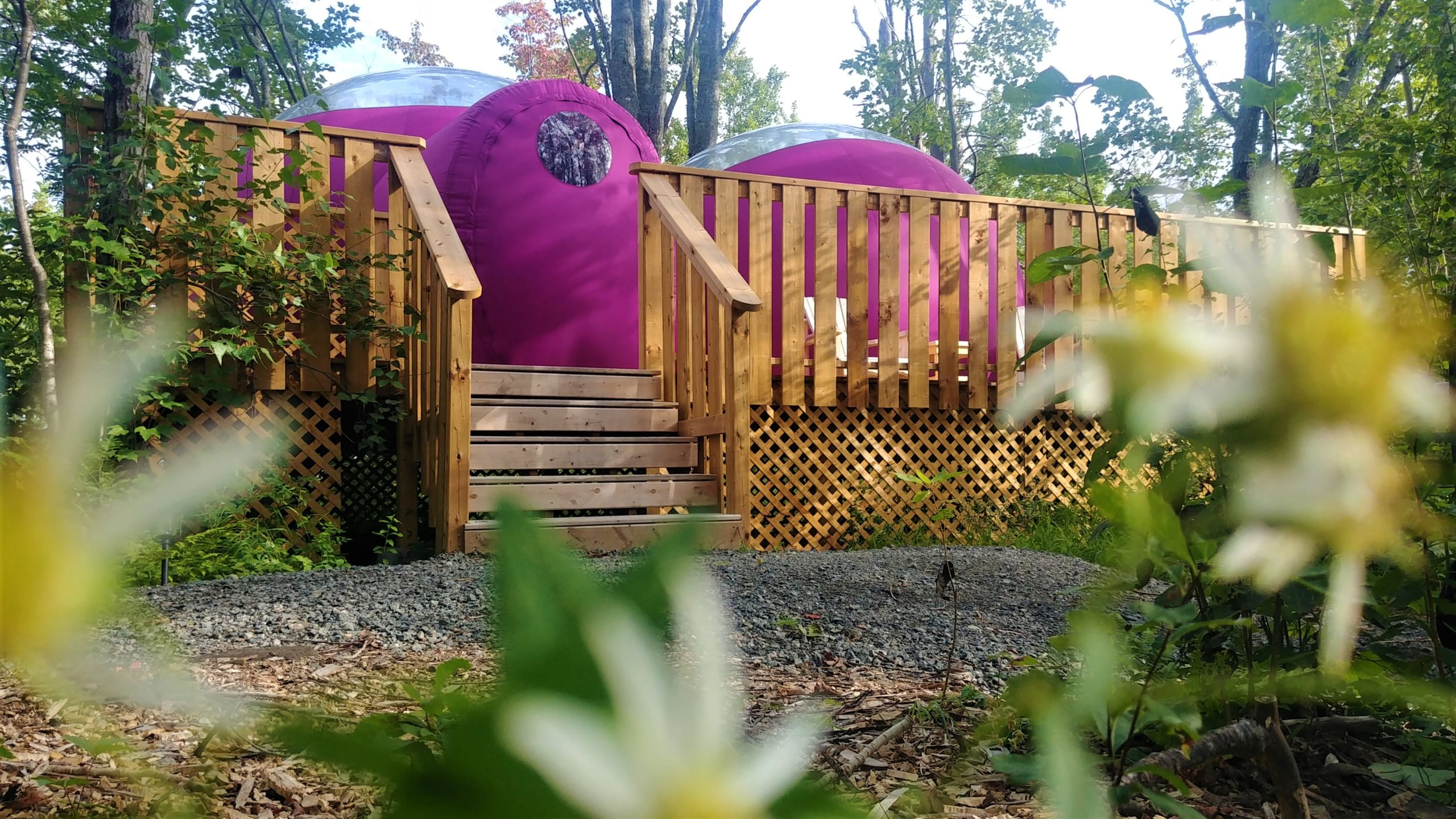Maplebrook Farm Retreat Shediac hébergement insolite Nouveau-Brunswick glamping