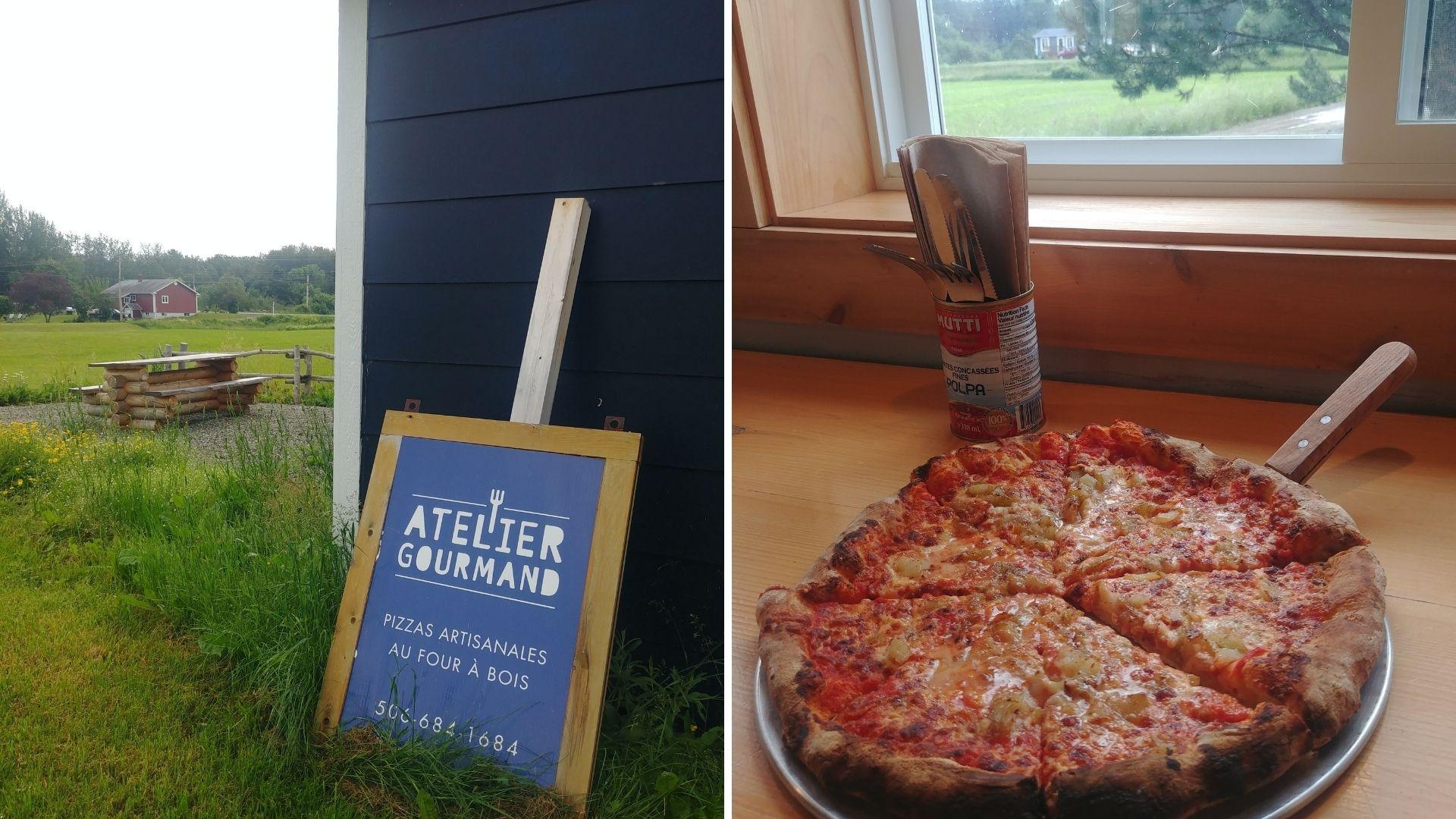 Pizzeria l'Atelier gourmand, Charlo, Nouveau-Brunswick