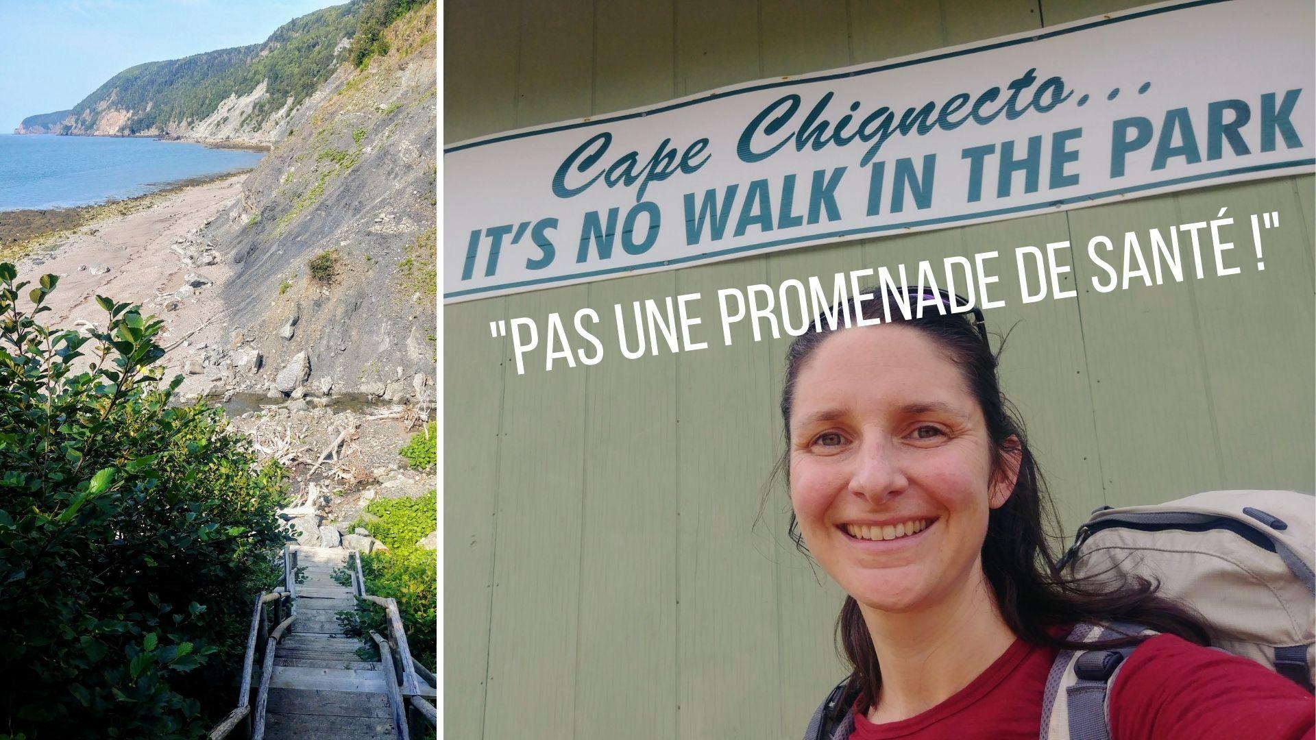Randonnée solo parc provincial sentier Cap Chignecto Nouvelle-Écosse Canada - Eatonville